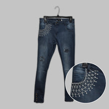 Load image into Gallery viewer, WOMEN'S DENIM JEANS PANTS (WITH EMB)