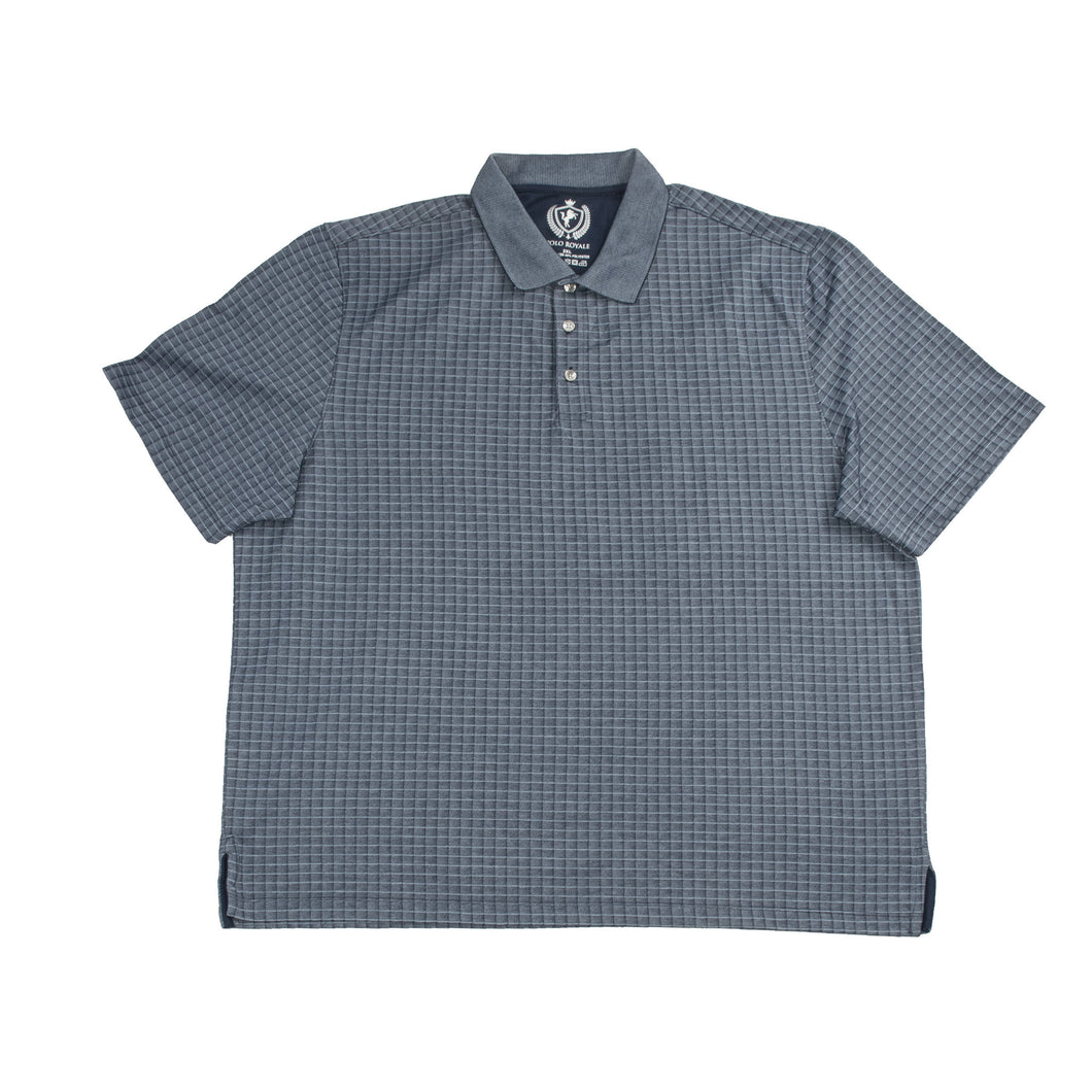 MEN'S S/S POLO - BLUE/BigTall - Export Mall Online Store Sale
