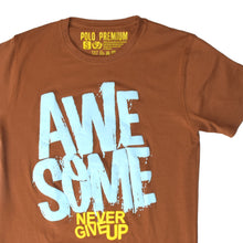 Load image into Gallery viewer, MEN'S S/S PRINTED TEE - BROWN / AWESOME - Export Mall Online Store Sale