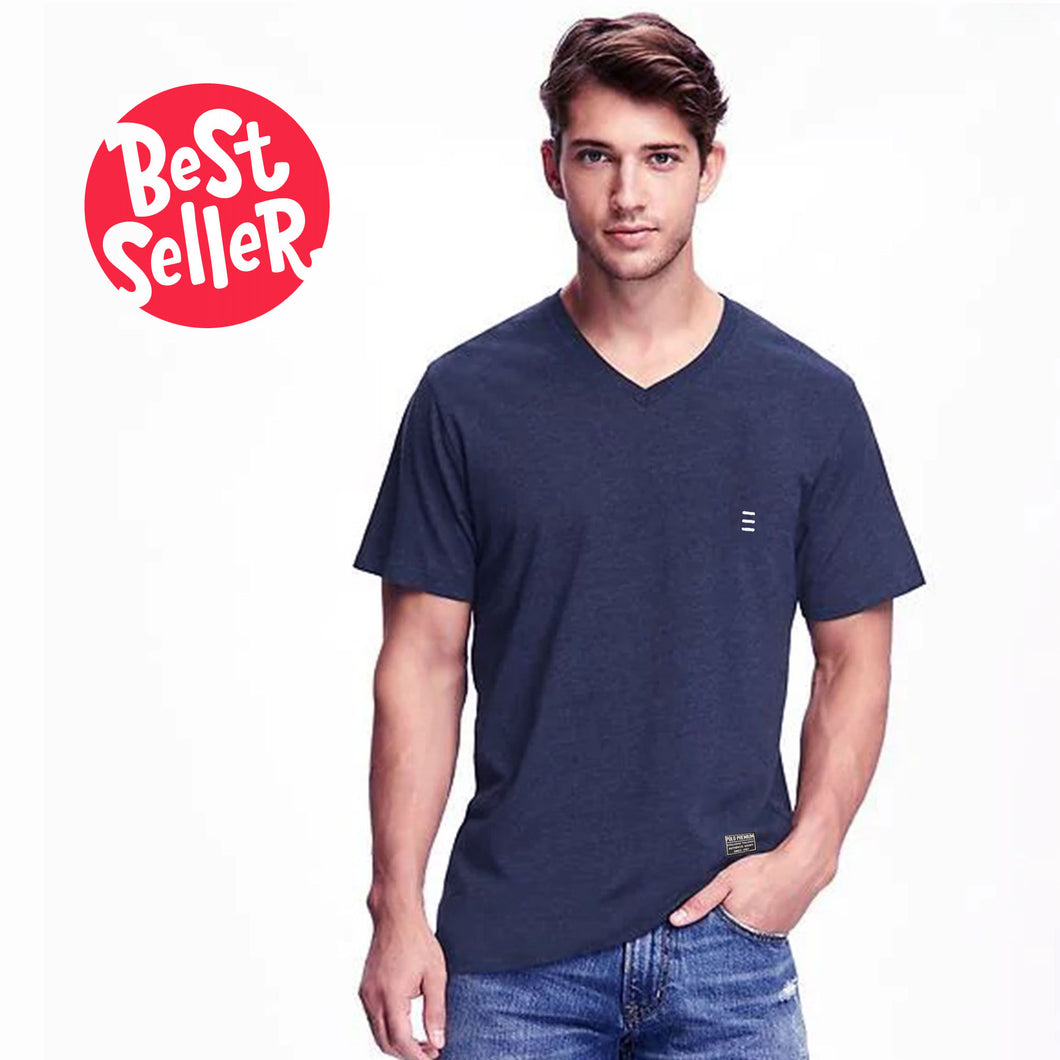 MEN'S S/S VEE-Navy-EMSS20KM-1002 - Export Mall Online Store Sale