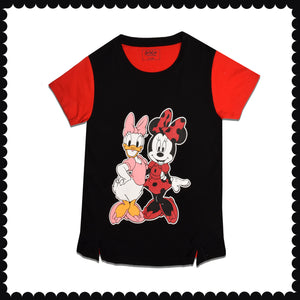 GIRL'S S/S GRAPHIC TEE-RED/BLACK-EMSS21KG-2210 - Export Mall Online Store Sale
