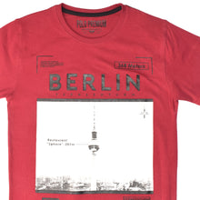 Load image into Gallery viewer, MEN'S S/S PRINTED TEE - BURGUNDY / BERLIN - Export Mall Online Store Sale