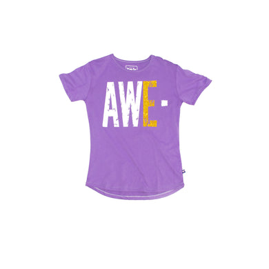 GIRL'S PRINTED TEE -PURPLE/AWE - Export Mall Online Store Sale