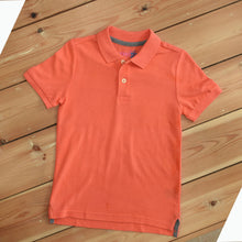 Load image into Gallery viewer, BOYS' S/S SOLID COLOR POLO - ORANGE - Export Mall Online Store Sale