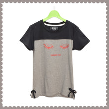 Load image into Gallery viewer, GIRL'S S/S GRAPHIC TEE-BLACK/GREY EMSS5KG- 2237 - Export Mall Online Store Sale