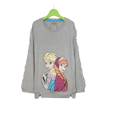 GIRL'S L/S GRAPHIC TEE-GREY HEATHER-EMSS21KG-2206 - Export Mall Online Store Sale