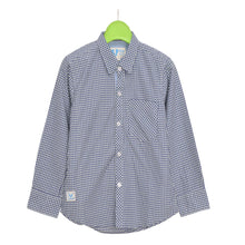 Load image into Gallery viewer, BOY'S WOVEN SHIRT - GREEN NAVY CHECK - 25 - Export Mall Online Store Sale