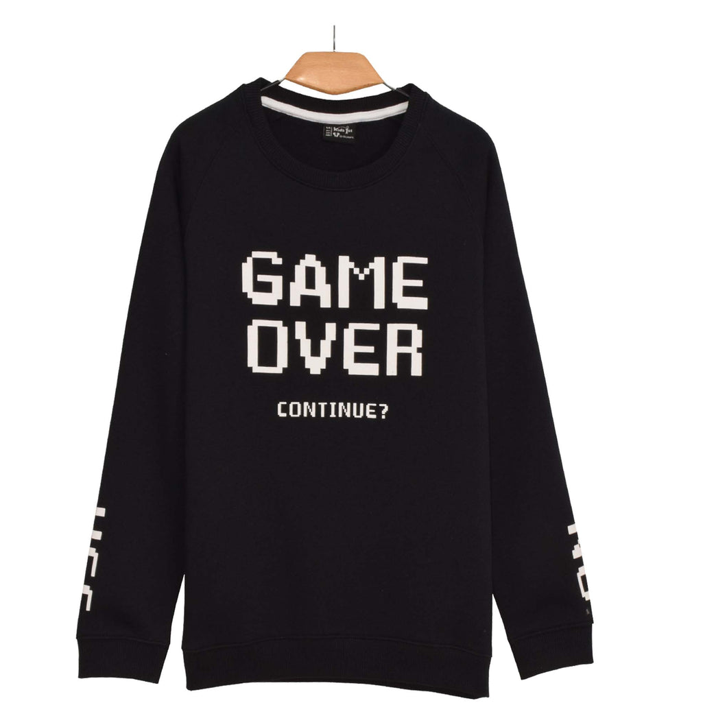 BOY'S L/S SWEAT SHIRT-BLACK-EMFW20KB-1122 - Export Mall Online Store Sale