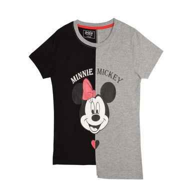 GIRL'S S/S GRAPHIC TEE-GREY HTR/BLACK-EMSS21KG-2209 - Export Mall Online Store Sale