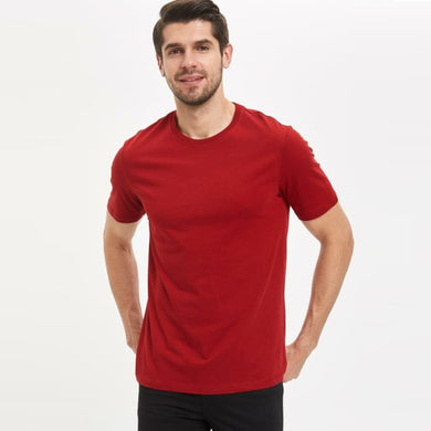 Men's S/S Solid Tee - Red - Export Mall Online Store Sale