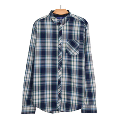 MEN'S L/S WOVEN SHIRT GREEN CHECK-25 - Export Mall Online Store Sale