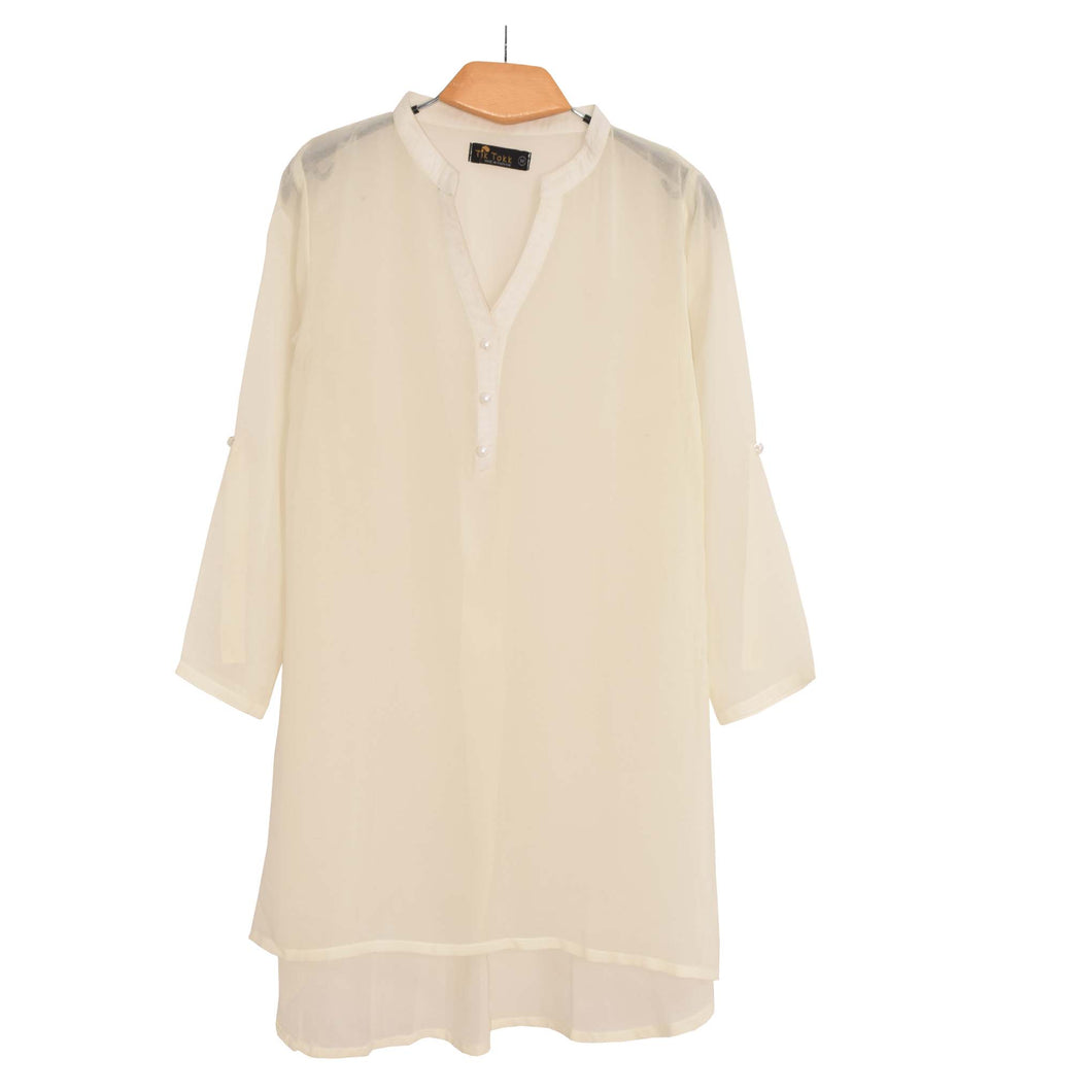 WOMEN'S WOVEN SHIRT/TOP OFF WHITE-11 - Export Mall Online Store Sale