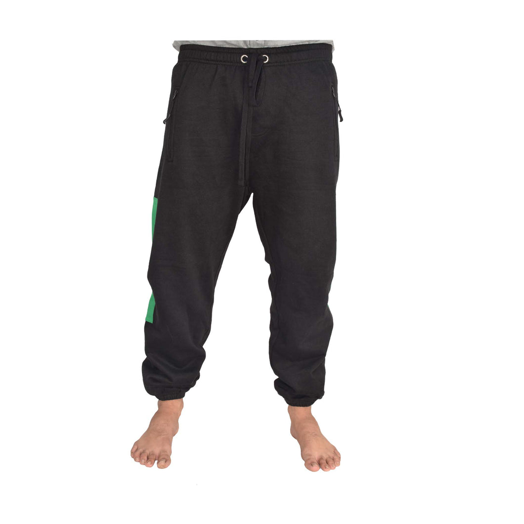 MEN'S FLEECE TROUSER-BLACK-EMFW4KM-1057 - Export Mall Online Store Sale