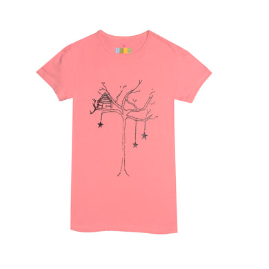 GIRL'S PRINTED TEE-PINK / TREE-SSFW20KG-AS52 - Export Mall Online Store Sale