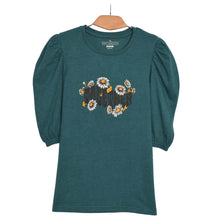 Load image into Gallery viewer, WOMEN'S L/S GRAPHIC TEE-TEAL TAUNT-EMFW20KW-2035 - Export Mall Online Store Sale