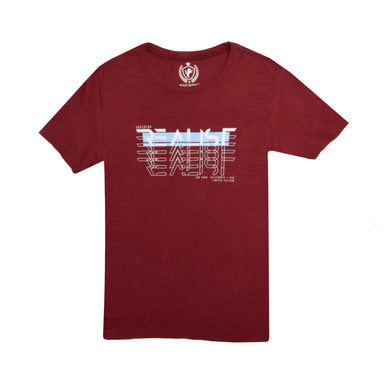 MEN'S S/S GRAPHIC TEE-MAROON-EMSS21KM-1048 - Export Mall Online Store Sale