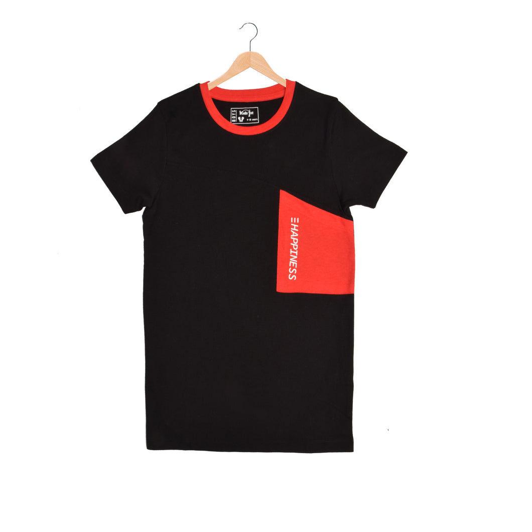 BOY'S S/S GRAPHIC TEE-BLACK-EMSS21KB-1118 - Export Mall Online Store Sale