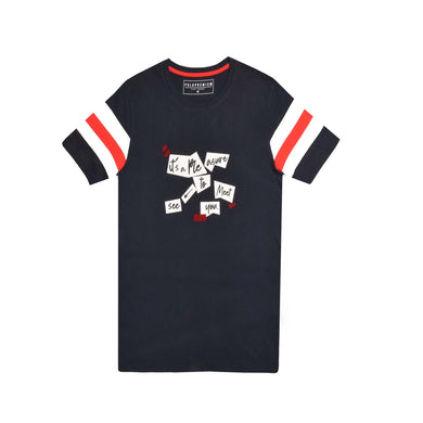 MENS S/S GRAPHIC TEE-NAVY-EMSS21KM-1002 - Export Mall Online Store Sale