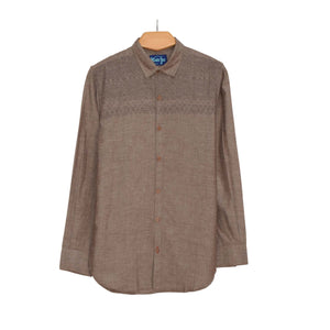 BOY'S WOVEN SHIRT - BROWN PRINT - 25 - Export Mall Online Store Sale