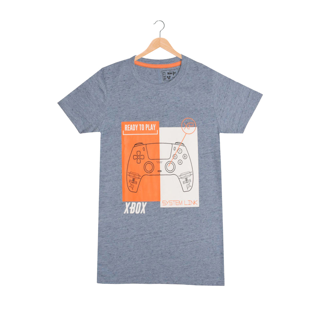 BOY'S S/S GRAPHIC TEE-SKY BLUE-EMSS21KB-1116 - Export Mall Online Store Sale