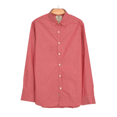 MEN'S L/S WOVEN SHIRT-ROSE GOLD-25 - Export Mall Online Store Sale