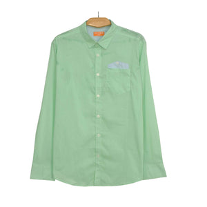 MEN'S L/S WOVEN SHIRT-LIGHT GREEN-25 - Export Mall Online Store Sale