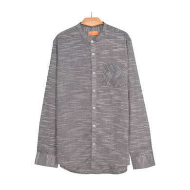 MEN'S L/S WOVEN SHIRT-CHARCOAL WHITE LININNG-25 - Export Mall Online Store Sale
