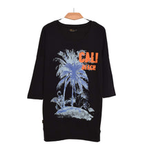Load image into Gallery viewer, WOMEN'S L/S FASHION TEE-BLACK CALI BEACH-25 - Export Mall Online Store Sale