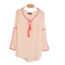 Load image into Gallery viewer, WOVEN SHIRT/TOP PEACH WITH EMB -19 - Export Mall Online Store Sale
