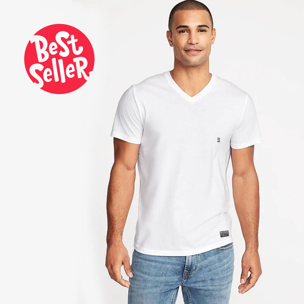 MEN'S S/S VEE-WHITE-EMSS20KM-1002 - Export Mall Online Store Sale