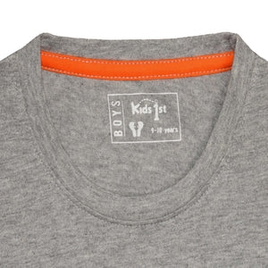 BOY'S S/S GRAPHIC TEE-GREY HEATHER-EMSS21KB-1139 - Export Mall Online Store Sale