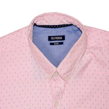 Load image into Gallery viewer, MEN'S L/S WOVEN SHIRT-PINK NAVY STAR-25 - Export Mall Online Store Sale