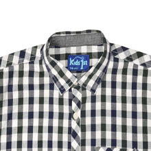 Load image into Gallery viewer, BOY'S WOVEN SHIRT - BLACK NAVY CHECK - 25 - Export Mall Online Store Sale