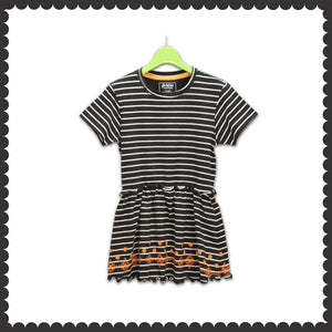 GIRL'S TUNIC-BLACK/WHITE-EMSS21KG-2238 - Export Mall Online Store Sale
