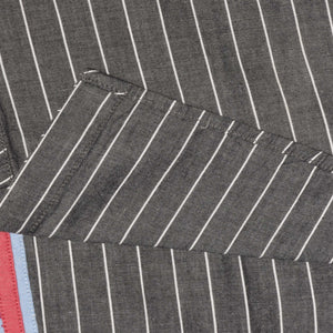 BOY'S WOVEN SHIRT - CHARCOAL WHITE LINE - 25 - Export Mall Online Store Sale
