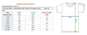BOY'S S/S GRAPHIC TEE-GREY HEATHER-EMSS21KB-1101 - Export Mall Online Store Sale