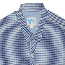 Load image into Gallery viewer, BOY'S WOVEN SHIRT - BLUE NAVY CHECK - 25 - Export Mall Online Store Sale