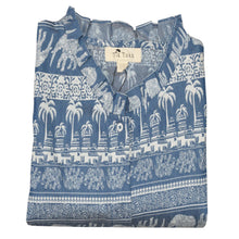 Load image into Gallery viewer, WOVEN SHIRT/TOP DARK BLUE -12 - Export Mall Online Store Sale