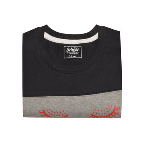 GIRL'S S/S GRAPHIC TEE-BLACK/GREY EMSS5KG- 2237 - Export Mall Online Store Sale
