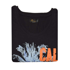 WOMEN'S L/S FASHION TEE-BLACK CALI BEACH-25 - Export Mall Online Store Sale