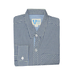 BOY'S WOVEN SHIRT - GREEN NAVY CHECK - 25 - Export Mall Online Store Sale