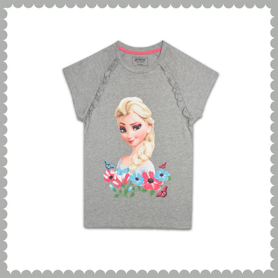 GIRL'S S/S GRAPHIC TEE-GREY HEATHER-EMSS21KG-2204 - Export Mall Online Store Sale