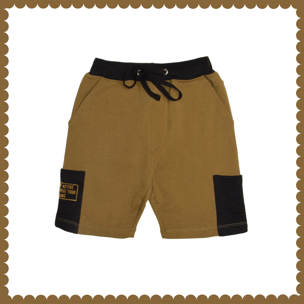 BOY'S SHORT-MILITARY OLIVE-EMSS21KB-1125 - Export Mall Online Store Sale