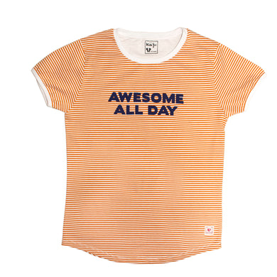 GIRL'S S/S GRAPHIC TEE-Orange/White-EMSS20KG-2206 - Export Mall Online Store Sale