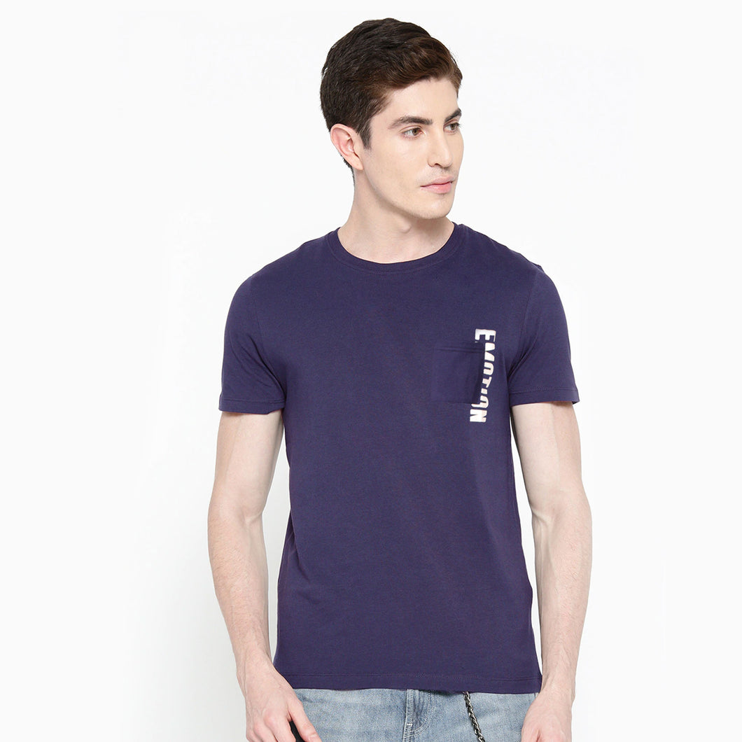 MEN'S S/S GRAPHIC TEE- BLUE-EMFW20KM-1010 - Export Mall Online Store Sale