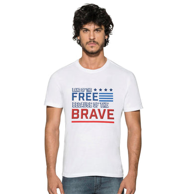 MEN'S S/S GRAPHIC TEE-WHITE BRAVE-1030 - Export Mall Online Store Sale