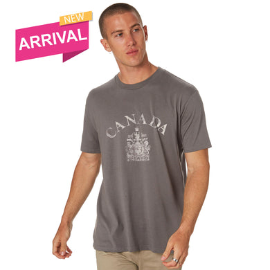 MEN'S S/S GRAPHIC TEE-CHARCOAL CANADA-1023 - Export Mall Online Store Sale