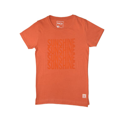 GIRLS S/S GRAPHIC TEE-PEACH-2251 - Export Mall Online Store Sale