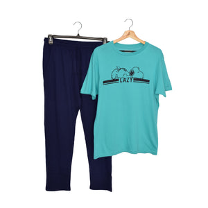 MEN'S SET- AQUA/NAVY-1035 - Export Mall Online Store Sale
