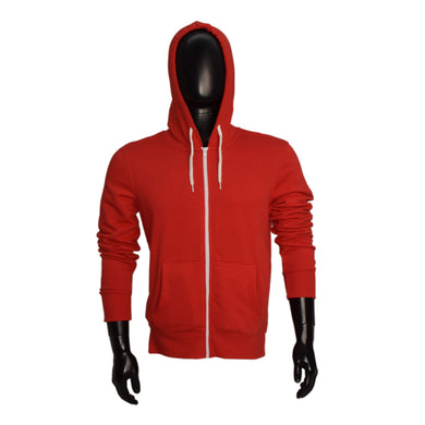 MEN'S RED ZIPPER HOOD-3759 - Export Mall Online Store Sale